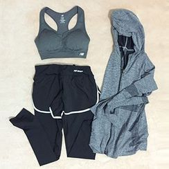 OneRoad - Set: Sports Bra + Quick Dry Mock Two-Piece Running Pants + Hooded Jacket