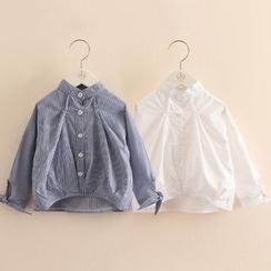 贝壳童装 - 小童蝴蝶结长袖衬衫