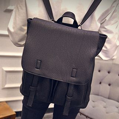Youme - Flap Faux Leather Backpack