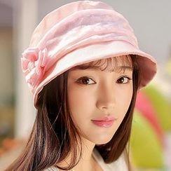 Thantrue - Flower Accent Lace Hat