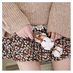 Sechuna - Band-Waist Floral-Patterned Skirt