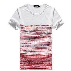 Free Shop - Short-Sleeve Striped T-Shirt