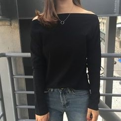 Tiny Times - Long-Sleeve Off Shoulder T-Shirt