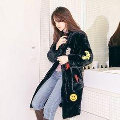 PPGIRL - Appliqué Faux-Fur Jacket