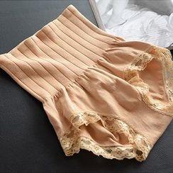 Northin - Lace-Trim High-Waist Panties