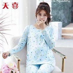 Megumi - 孕妇动物印花睡衣套装
