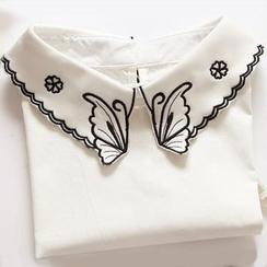MIOW - 蝴蝶刺繡裝飾領子