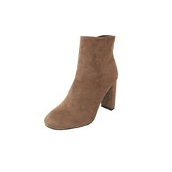 DABAGIRL - Chunky-Heel Faux-Suede Ankle Boots