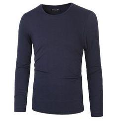 Blueforce - Long-Sleeve Plain T-Shirt
