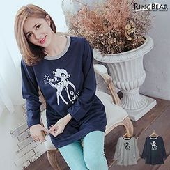 RingBear - Deer Print Long-Sleeve T-Shirt