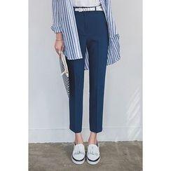 migunstyle - Flat-Front Dress Pants