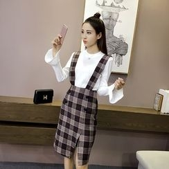 Sheeno - Plaid Suspender Dress