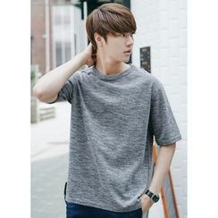JOGUNSHOP - Round-Neck Short-Sleeve T-Shirt