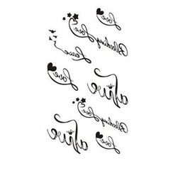 Alinda - Set of 10: Letter Faux Tattoo Stickers