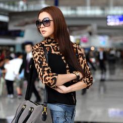 SO Central - Leopard Print Panel Shirt