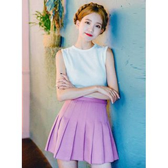 icecream12 - Pleated Mini Skirt