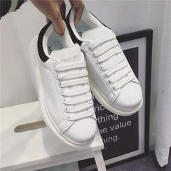 kokoin - Contrast Heel-Tab Sneakers