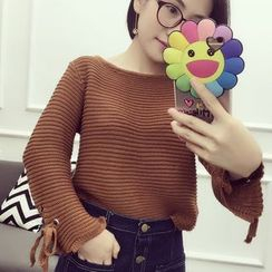 Bloombloom - Cropped Chunky Knit Sweater