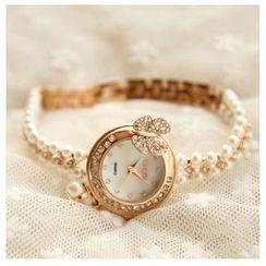 Nanazi Jewelry - 仿珍珠手链手表
