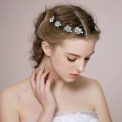 Miss Diva - Jeweled Leaf Hair Stick