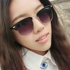 OJOS - Half-Frame Vintage Sunglasses