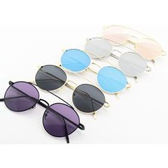 Sunny Eyewear - Round Double Bridge Sunglasses