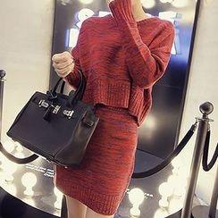 Honeydew - Set: Long-Sleeve Knit Top + Skirt