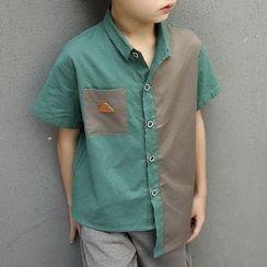 Yodina - Kids Color Panel Short-Sleeve Shirt