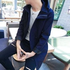 ZZP HOMME - Hooded Long Zip Jacket