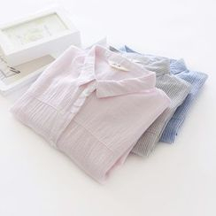 Bonbon - Stripe Short-Sleeve Shirt
