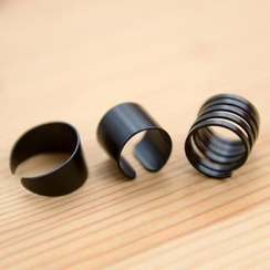 Clair Fashion - Set of 3: Adjustable Rings