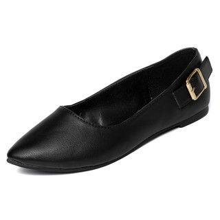 yeswalker - Buckle-Accent Pointy Toe Flats