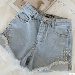 IndiGirl - Studded Denim Shorts