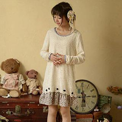 Moriville - Long-Sleeved Crocheted Dress