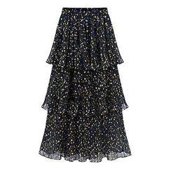 AGA - Printed Layered Maxi Skirt