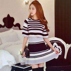 Dabuwawa - Striped A-Line Skirt
