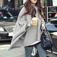 Fashion Street - Furry Hooded Woolen Jacket