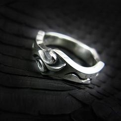 Sterlingworth - Embossed Tinted Sterling Silver Ring