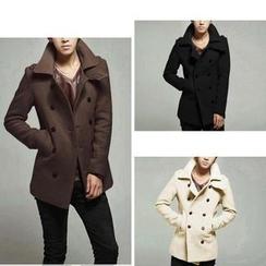 百高 - 雙排扣羊毛平駁領夾克