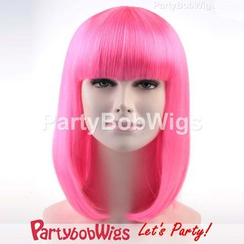Party Wigs - PartyBobWigs - Party Medium Bob Wig - Pink