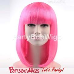Party Wigs - PartyBobWigs - 派对BOB款中长假发 - 粉红色