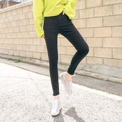 Seoul Fashion - Cotton Blend Skinny Pants