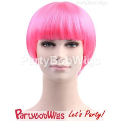 Party Wigs - PartyBobWigs - Party Short Bob Wig - Pink