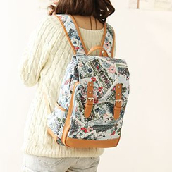 Canvas Love - Print Canvas Backpack
