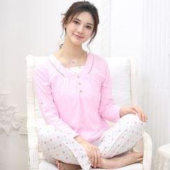 Kream - Pajama Set: Nursery Top + Print Pants