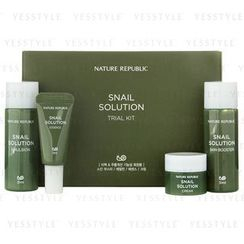 Nature Republic - Snail Solution Trial Kit: Booster + Emulsion + Essence + Cream
