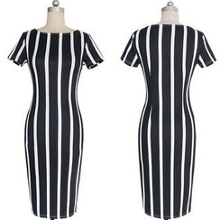 Flobo - Short-Sleeve Striped Dress