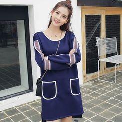 Sienne - Striped Long Sleeve Dress