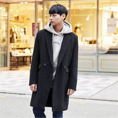 TOMONARI - Double-Breasted Wool Blend Coat
