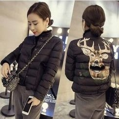 Lovebirds - Print Padded Jacket